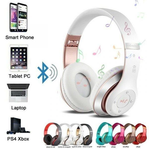 Wireless Headphones Sport Bluetooth 5.0 Earphone Foldable Wirele Handsfree Headset Ear Buds Head Phone Earbuds For iPhone Xiaomi 2