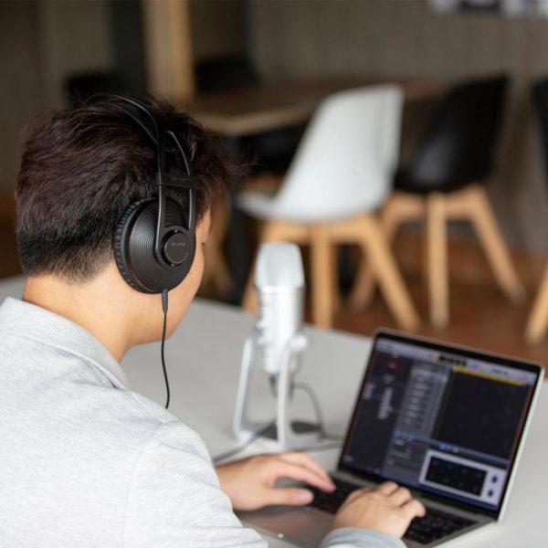 BOYA BY-HP2 Circumaural Ergonomic Professional Monitoring Headphone for Audio Recording, Post-Production, High-Power Device 4