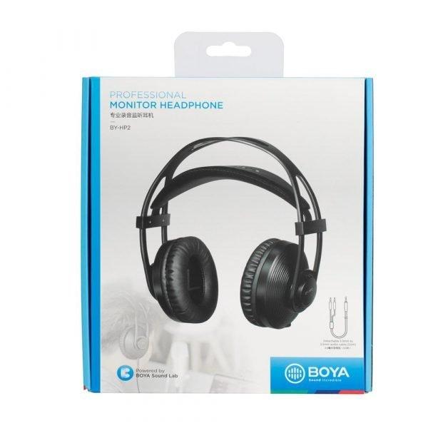 BOYA BY-HP2 Circumaural Ergonomic Professional Monitoring Headphone for Audio Recording, Post-Production, High-Power Device 6