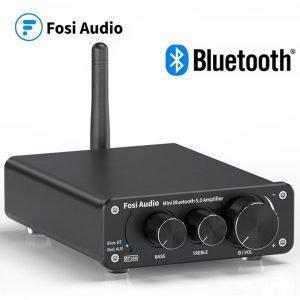 Fosi Audio Bluetooth 2 Channel Sound Power Stereo Amplifier TPA3116D2 Mini HiFi Digital Amp for Speakers 50W BT10A Treble & Bass 1