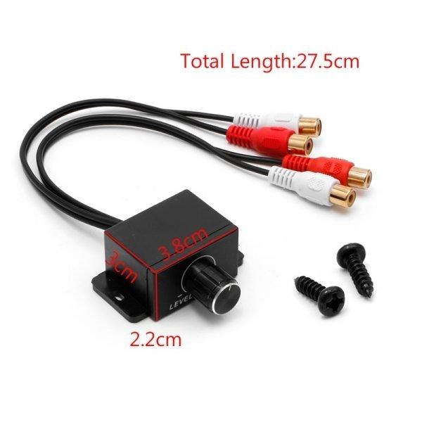 New Car Audio Amplifier Bass RCA Level Remote Volume Control Knob LC-1 Universal 6