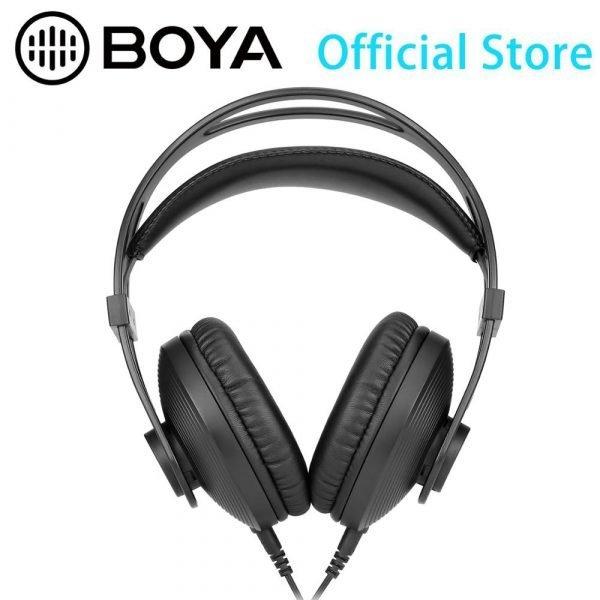 BOYA BY-HP2 Circumaural Ergonomic Professional Monitoring Headphone for Audio Recording, Post-Production, High-Power Device 1
