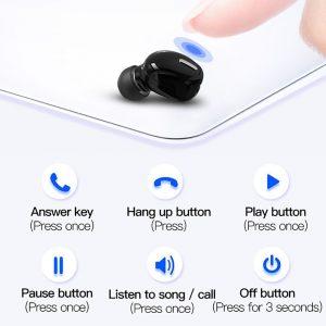 Mini Wireless Bluetooth 5.0 Earphone in Ear Sport with Mic Handsfree Headset Earbuds For Samsung Huawei All Phone Earphones 2